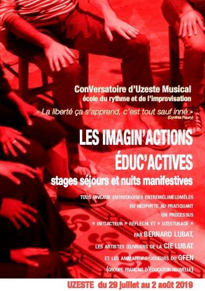 Mots d'UZ Operandi — Imagin'actions Éduc'actives – Uzeste/Théâtre amusicien – 29 juillet-2 août 2019