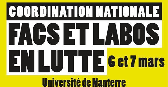 Motion de la Coordination des facs et labos en lutte  — 6 et 7 mars 2020 à Nanterre